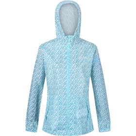 Regatta Printed Pack-It Jacket Women cool aqua edelweiss